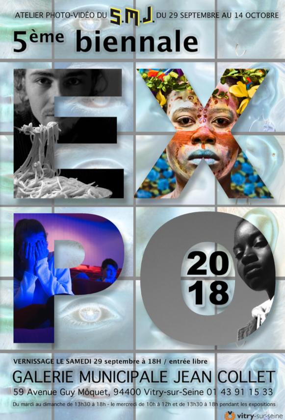 Affiche pour la promotion de la 5e biennale de l'atelier photo du SMJ de Vitry-sur-Seine
